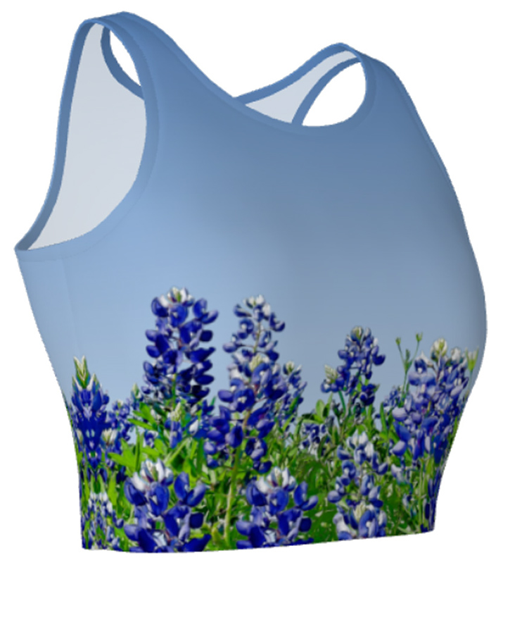 BluebonnetAthleticCropTop